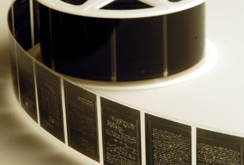 Digitized Microfilm Negatives to Digital (JPEG) on USB Flash Drive