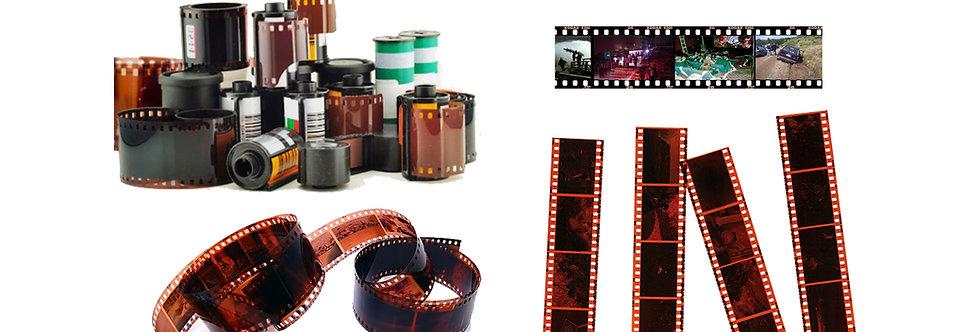 35mm Negatives transferred to digital, JPEG, or USB