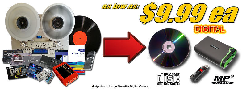 AZ Digital Transfers Audio Tapes_Vinyl_LP records to CD & Digital Mp3 on USB Bulk Special