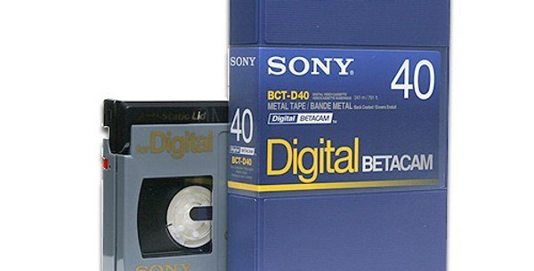 Digital Betacam (DigiBeta) Video Tape to DVD or Digital