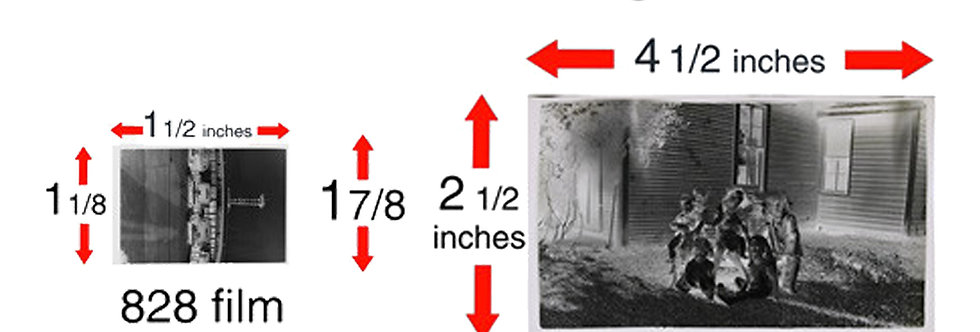 828, 116, & 616 Film Negatives Digitized to JPEG on USB Flash Drive