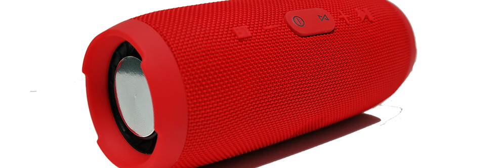 Red Charge3 Rechargeable Waterproof Bluetooth Speaker