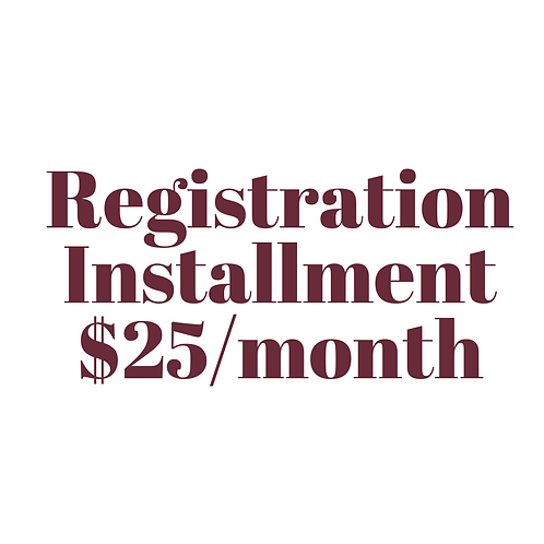 Registration Installment Agreement $25/mo.