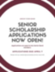 Senior scholarship applications now open