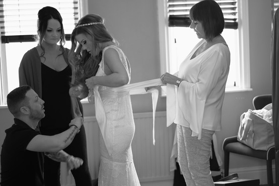 Getting the bride ready!
