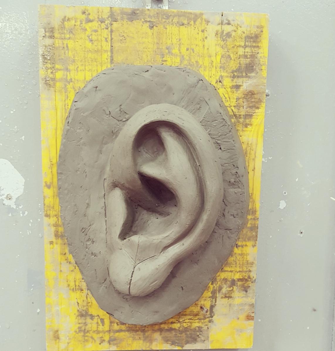 Copy of Michelangelo's David Ear