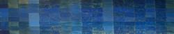 Bleu phtalocyanine / fond or