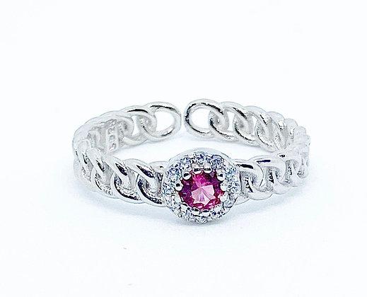 טבעת גורמט אבן ורודה