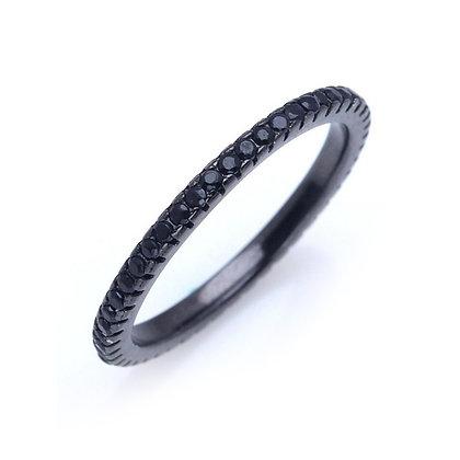 טבעת טניס שחורה