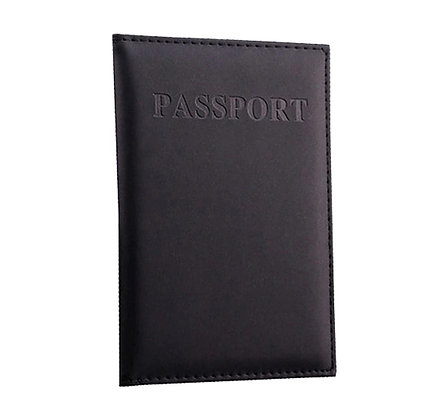 כיסוי מעוצב לדרכון שחור