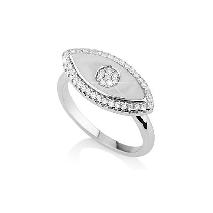 טבעת עין מראה משובצת