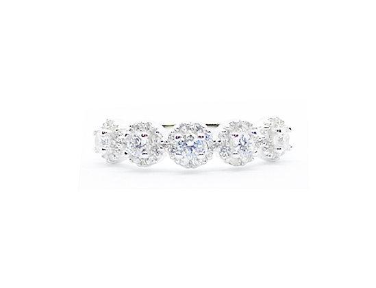 טבעת קיארה עיגולים משובצים