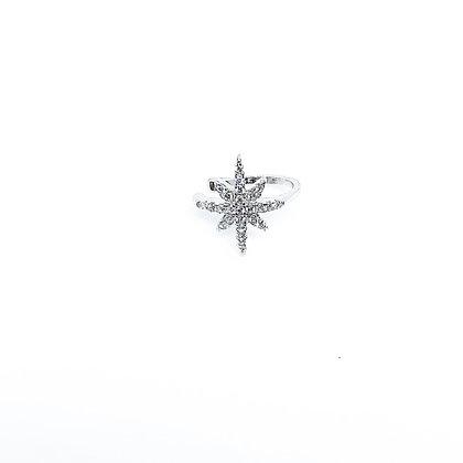 עגיל כוכב הצפון אליקס אמצע אוזן ללא חור אמיתי