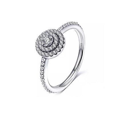 טבעת עיגול משובץ