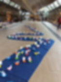 A week long interactive installation of paper boats with illustrated sails made by the public and added to a huge fabric river Thames on the floor of the Cutty Sark in October 2016