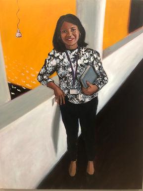 Ms Jean Baptiste, oil on canvas, 202150 x 70 cm, .jpg