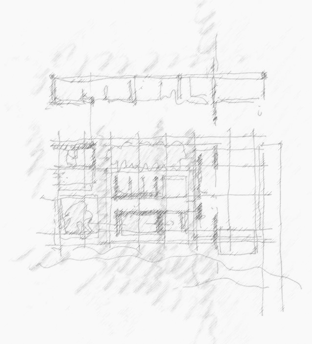 Early Concept Sketch - Highveldt House