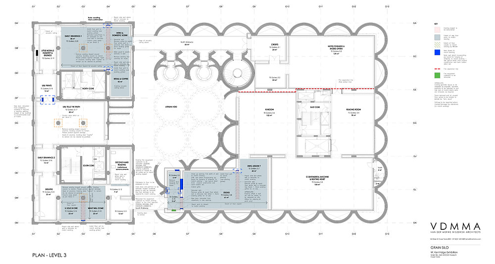 Zeitz Mocaa Level 3 layout plan showing new spaces