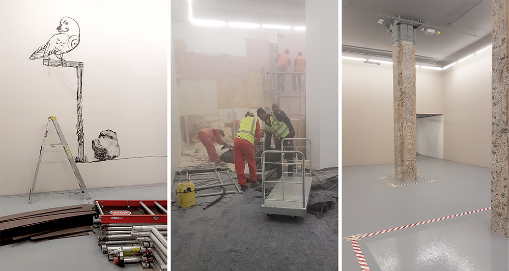 Kentridge Exhibition Construction Work