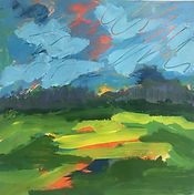 Richards1_ Summer at the Farm, acrylic o