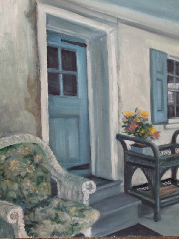Scarano, #4, The Porch, Oil on Canvas pa