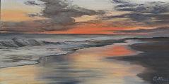 Alessi 3_Sunset 3, oil on canvas, 6 x 12
