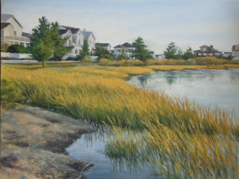 Scarano, #3, Overlooking the Marsh, Oil
