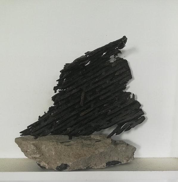 Reisser9_Voyage, Bronze on Concrete Base