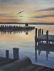 Scarano, #7 Chincoteague Sunset, Oil on