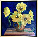 Breakell 4  Yellow Tulips. oil on canvas
