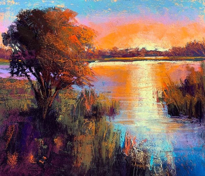 Guidera-Matey 4_Tangerine Sky, pastel, 1