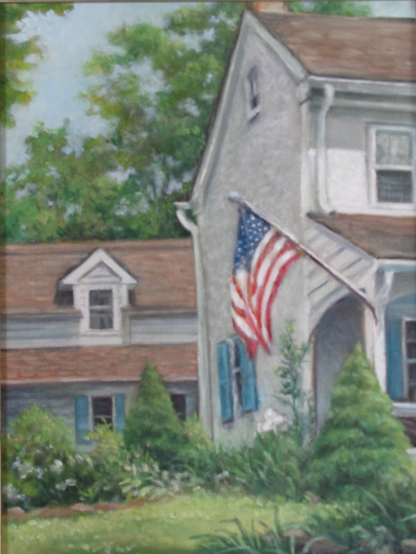 Scarano, #5 Old Glory, Oil on canvas pan
