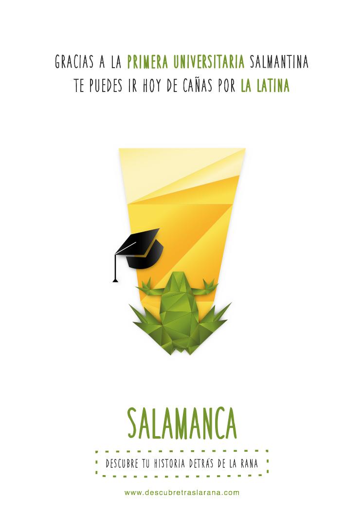 gráfica Salamanca: cerveza en rana