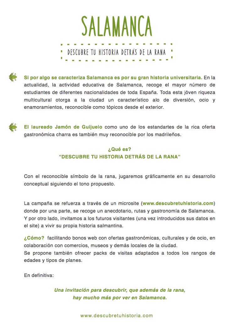 descriptivo campaña turismo Salamanca