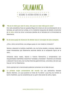 descriptivo campaña turismo Salamanc