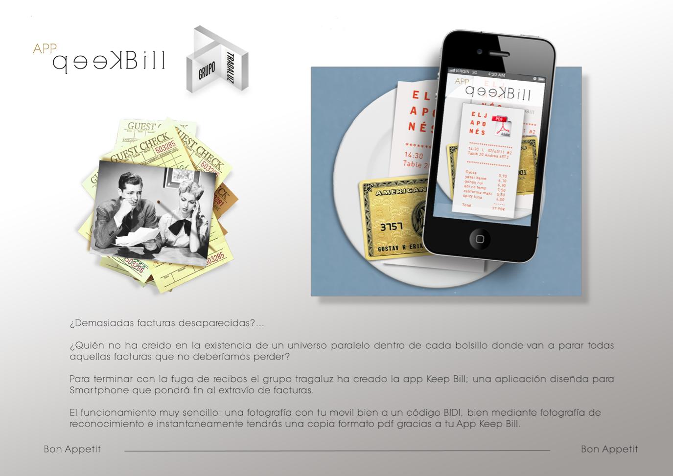 App keep bill (tragaluz)