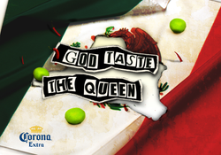 "gráfica: ""God taste the queen"""