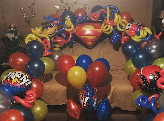 Super Hero Baby Shower Balloon Arch.jpg