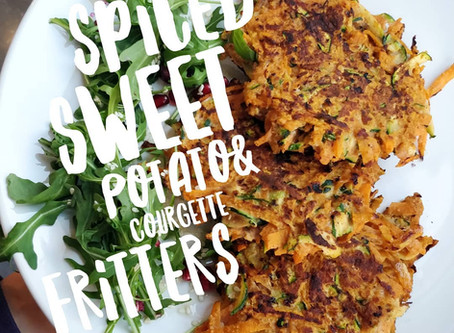 Spiced Sweet Potato & Courgette Fritters