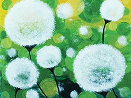 Delicate Dandelions Canvas