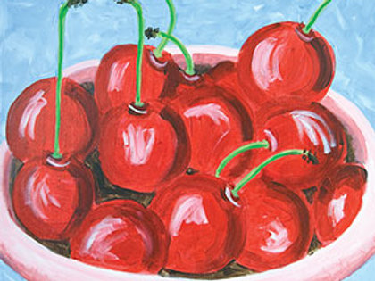 Bowl of Cherries Canvas