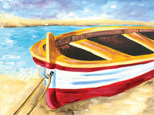 Beached Boat Canvas