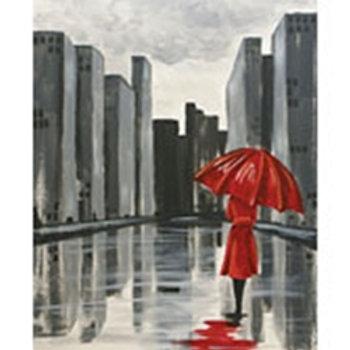 Red Umbrella Canvas