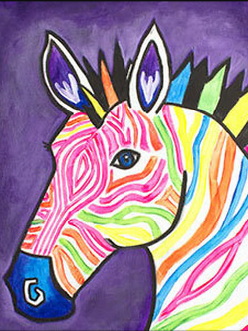 Electric Zebra Canvas