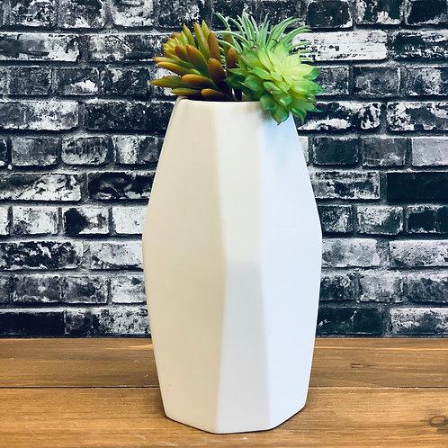 Symmetrical Faceted Vase