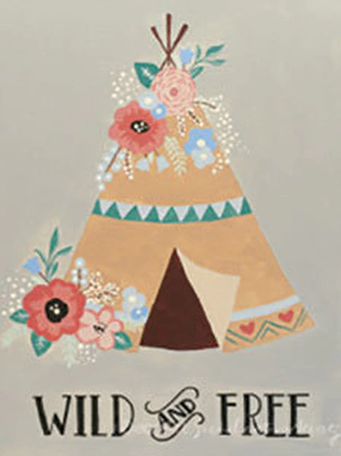 Wild & Free Teepee Canvas