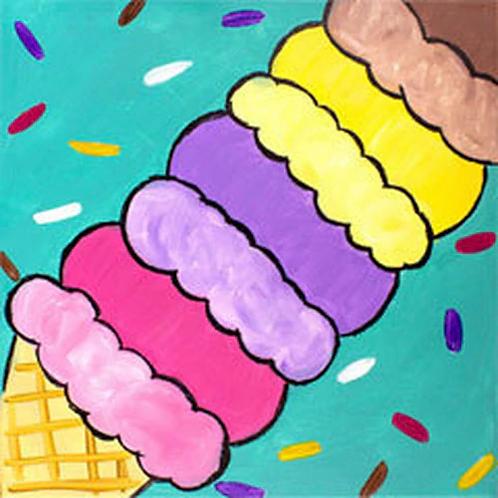Endless Ice Cream Canvas
