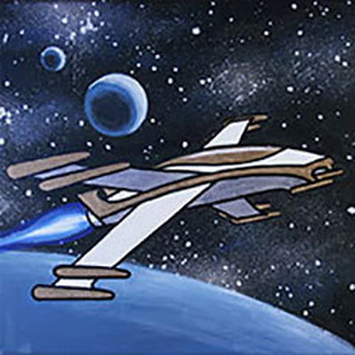 Galactic Fighter Canvas