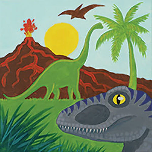 Dinosaur Kingdom Canvas