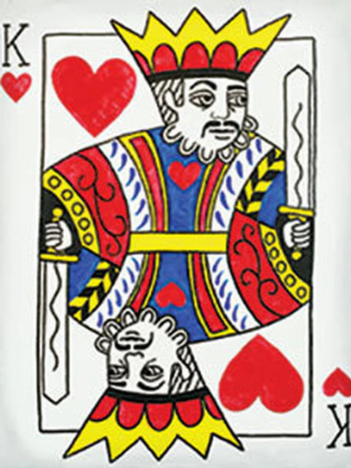 King of Hearts Canvas